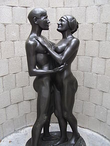 Sculpture Liefde (1917) by Joseph Mendes da Costa in sculpturepark KMM.jpg