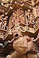 Sculptures at Lakshamana temple, Khajuraho.jpg