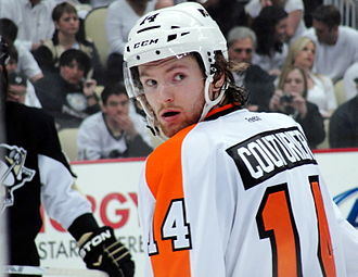 Sean Couturier - Couturier during the 2012 Stanley Cup playoffs.