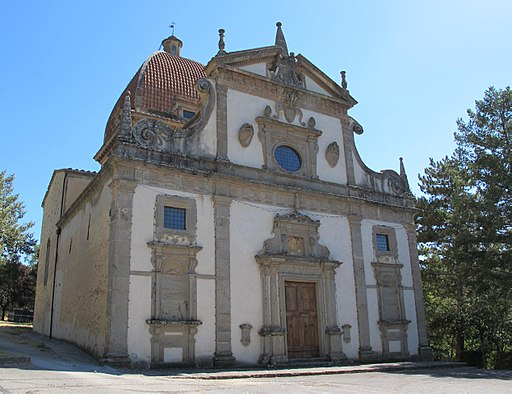 Santuario della Madonna della Carità, Seggiano, facciata
