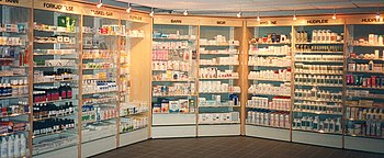 Modern pharmacy in Norway