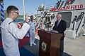 Senator John S. McCain III reenlists Michael Papapietro, the USS John S. McCain sailor of the year, (34887120002).jpg