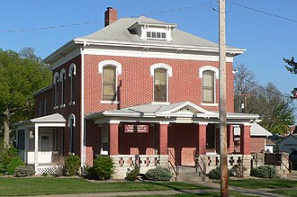 National Register of Historic Places listings in Nemaha County, Kansas - Image: Seneca, Kansas jail and sheriff residence from NW 1