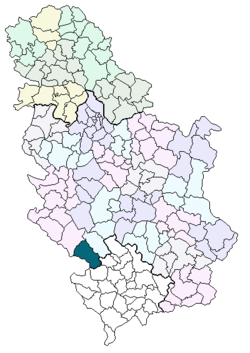 mapa srbije tutin Општина Тутин — Википедија, слободна енциклопедија mapa srbije tutin