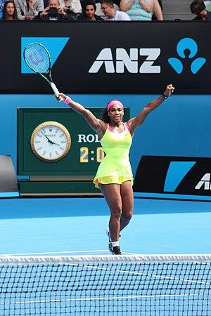2017 WTA Tour - Image: Serena Williams 2015 AO