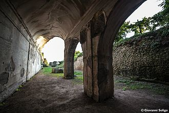 Cryptoporticus - A view of the ancient cryptoporticus of Sessa Aurunca, Italy