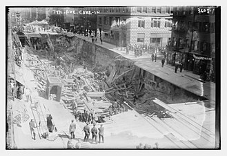 IRT Broadway–Seventh Avenue Line - Subway collapse in 1915