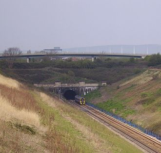 South Wales Main Line - The entrance to the Severn Tunnel on the English side