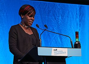 Shakira Martin (NUS) - Martin addressing the 2017 NUS National Conference in Brighton.