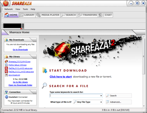 Shareaza - Image: Shareaza screenshot en