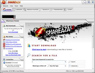 Shareaza - Image: Shareaza screenshot en