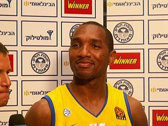 Derrick Sharp - Sharp while playing with Maccabi Tel Aviv