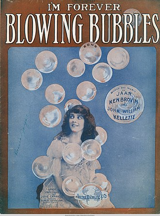 I'm Forever Blowing Bubbles - Sheet music cover featuring June Caprice