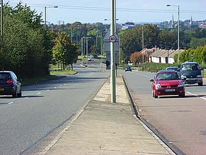 Earley - View down Shepherd's Hill (A4) towards Reading