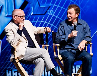 Max Grodénchik - Grodénchik (right) with Star Trek: Deep Space Nine co-star Armin Shimerman (left)