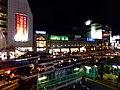 Shinjuku Station South Gate at night 20141225.jpg