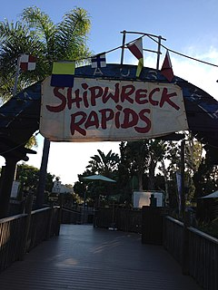 Shipwreck Rapids Theme park ride at SeaWorld San Diego