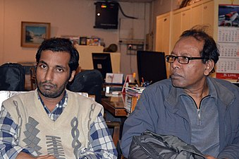 Shobuj Taposh & Hafiz Rashid Khan at BNWIKI12 celebration in Chittagong (01).jpg