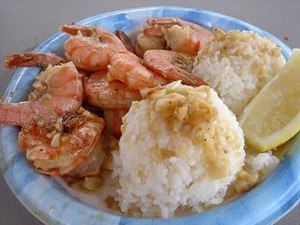 Plate lunch - Image: Shrimp plate lunch