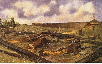 American frontier - Siege of Fort Detroit during Pontiac's Rebellion in 1763