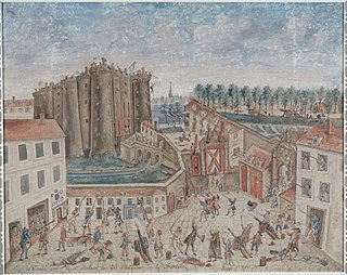 <i>Siege of the Bastille</i> (Cholat) painting by Claude Cholat