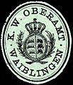Siegelmarke Königlich Württembergische Oberamt - Waiblingen W0228020.jpg