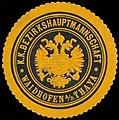 Siegelmarke K.K. Bezirkshauptmannschaft Waidhofen-Thaya W0320961.jpg