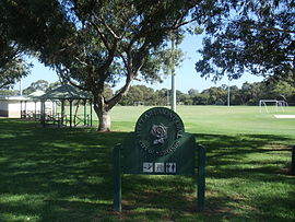 Sign of the Mount Claremont Oval in Mount Claremont, Western Australia.JPG