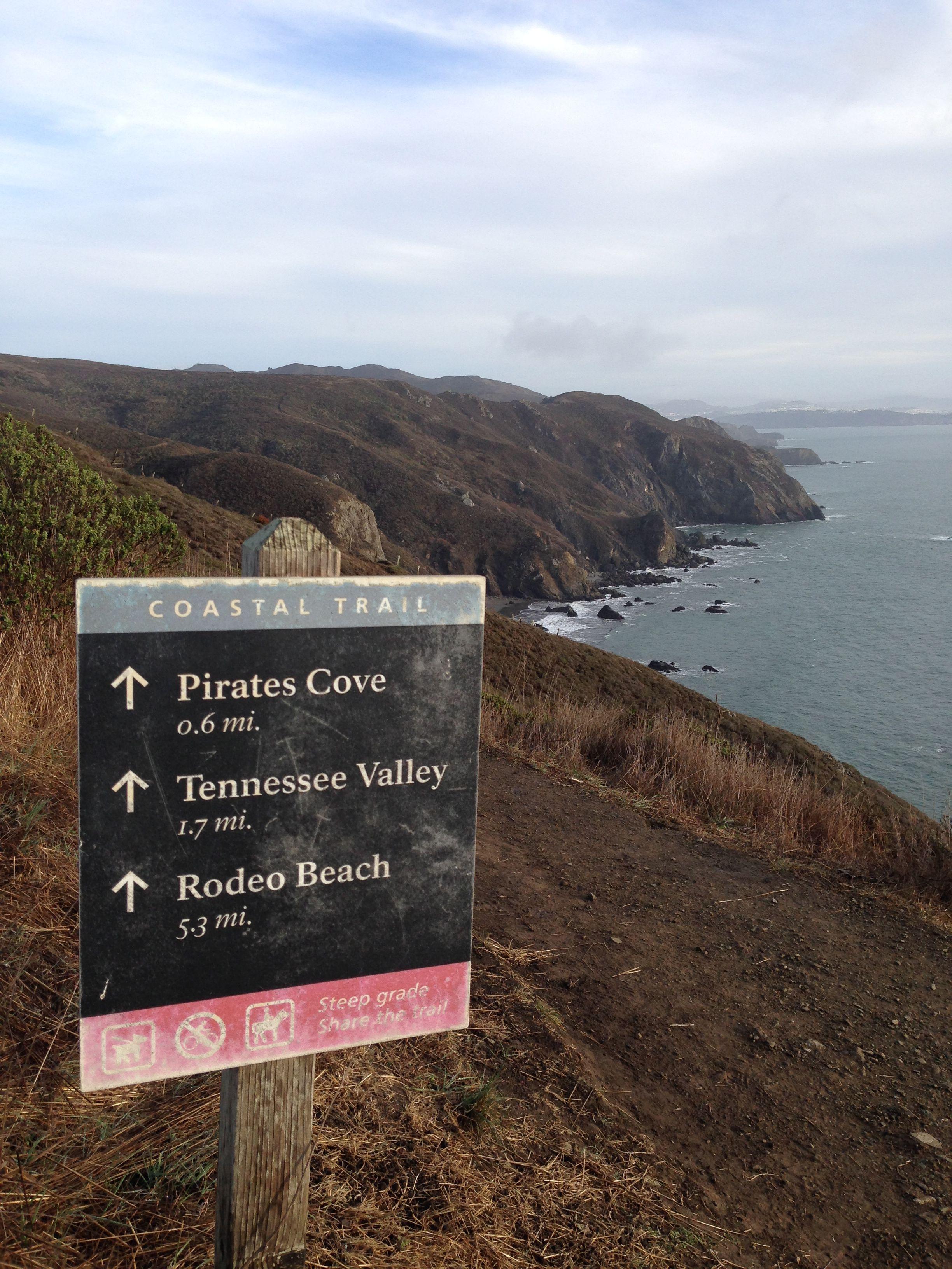 File Sign On The California Coastal Trail South Of Muir Beach Jpg