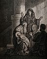 Simeon recognises the infant Jesus as saviour. Etching by K. Wellcome V0034645.jpg