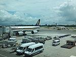 Singapore Airlines Airbus A340-500 9V-SEG at Changi Airport 20130211.jpg