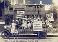"""Sioux Falls women's suffrage parade """"float"""" July 4, 1918.jpg"""