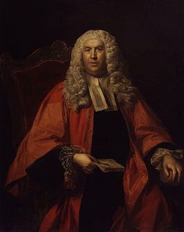 Portret van Sir William Blackstone, circa 1755