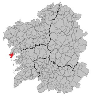 Ribeira, Galicia - Image: Situacion Ribeira