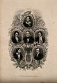 Six poets; Robert Montgomery, John Keats, Lord Byron, Walter Wellcome V0006808.jpg
