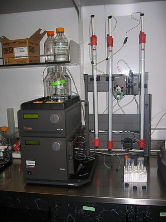 Size-exclusion chromatography - Agarose-based SEC columns used for protein purification on an AKTA FPLC machine.