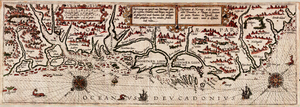 Lucas Janszoon Waghenaer - Page 106-7 from the atlas Thresoor der Zeevaert: Norway