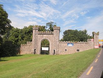Slane Castle - The former main gate into Slane Castle
