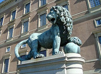 Medici lions - Slottslejonen at the Royal Palace, Stockholm