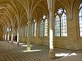 Soissons (02), abbaye Saint-Jean-des-Vignes, réfectoire, vue diagonale vers le sud-ouest 2.jpg