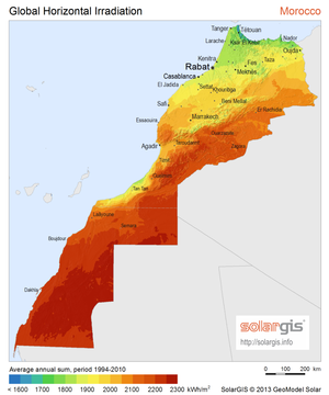 Solar power in Morocco - Solar resources in Morocco and Western Sahara