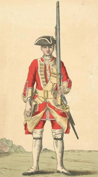 King's Own Scottish Borderers - Soldier of 25th regiment, 1742