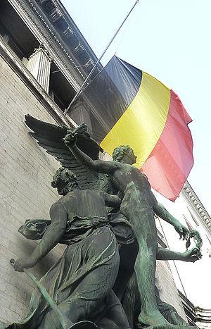 Queen Fabiola of Belgium - The Belgian Flag Halfmast
