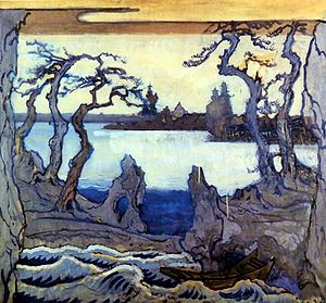 The Nightingale (opera) - Set design for the premiere by Alexandre Benois