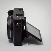 Sony Alpha ILCE-6000 APS-C-frame camera side screen tilted.jpeg