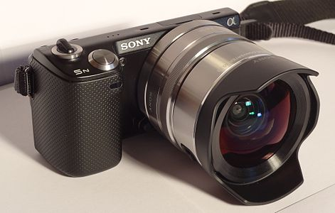 The Sony Alpha NEX-5N with 16 mm + ultra wide converter x0.75.