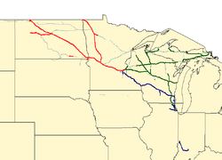 Soo Line Railroad - Wikipedia Milwaukee Road Route Map Minnesota on wheeling & lake erie route map, union pacific route map, virginia & truckee route map, chicago great western route map, united route map, grand trunk route map, milwaukee railroad lines, air canada route map, milwaukee railroad in idaho, air china route map, georgia railroad route map, soo line railroad map, strasburg railroad route map, illinois central route map, mt. shasta route map, via rail canada route map, rock island route map, iberia route map, southern railway route map, dallas area rapid transit route map,
