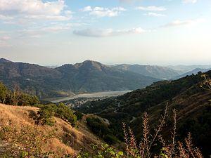 Aspromonte - South Aspromonte near Bagaladi seen towards south, a dry river bed (fiumara).