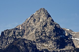 South Teton mountain in United States of America