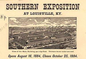 Southern Exposition - Portion of poster for 1884 Southern Exposition